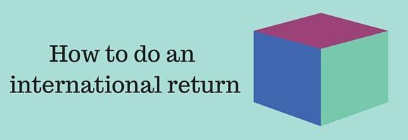 How to return an item bought with international shipping