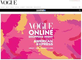 What is Vogue Online Shopping Night?